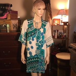Julie Brown silk abstract mini dress